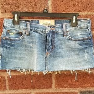 Hollister Sz 3 Mini Jean Denim Skirt VGUC